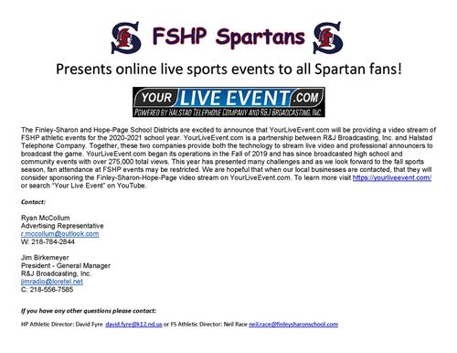 New to FSHP Sports - Live streaming games