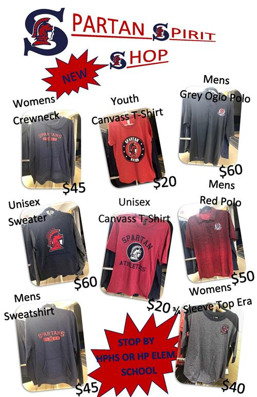 Spartan Spirit Shop ~ New Clothes are in!