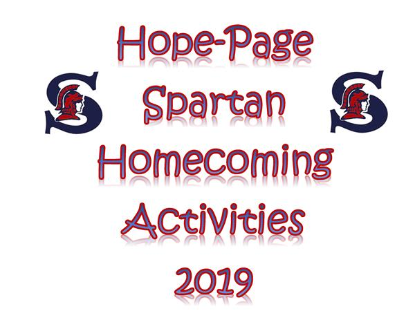 Hope-Page Homecoming Activities Schedule 2019