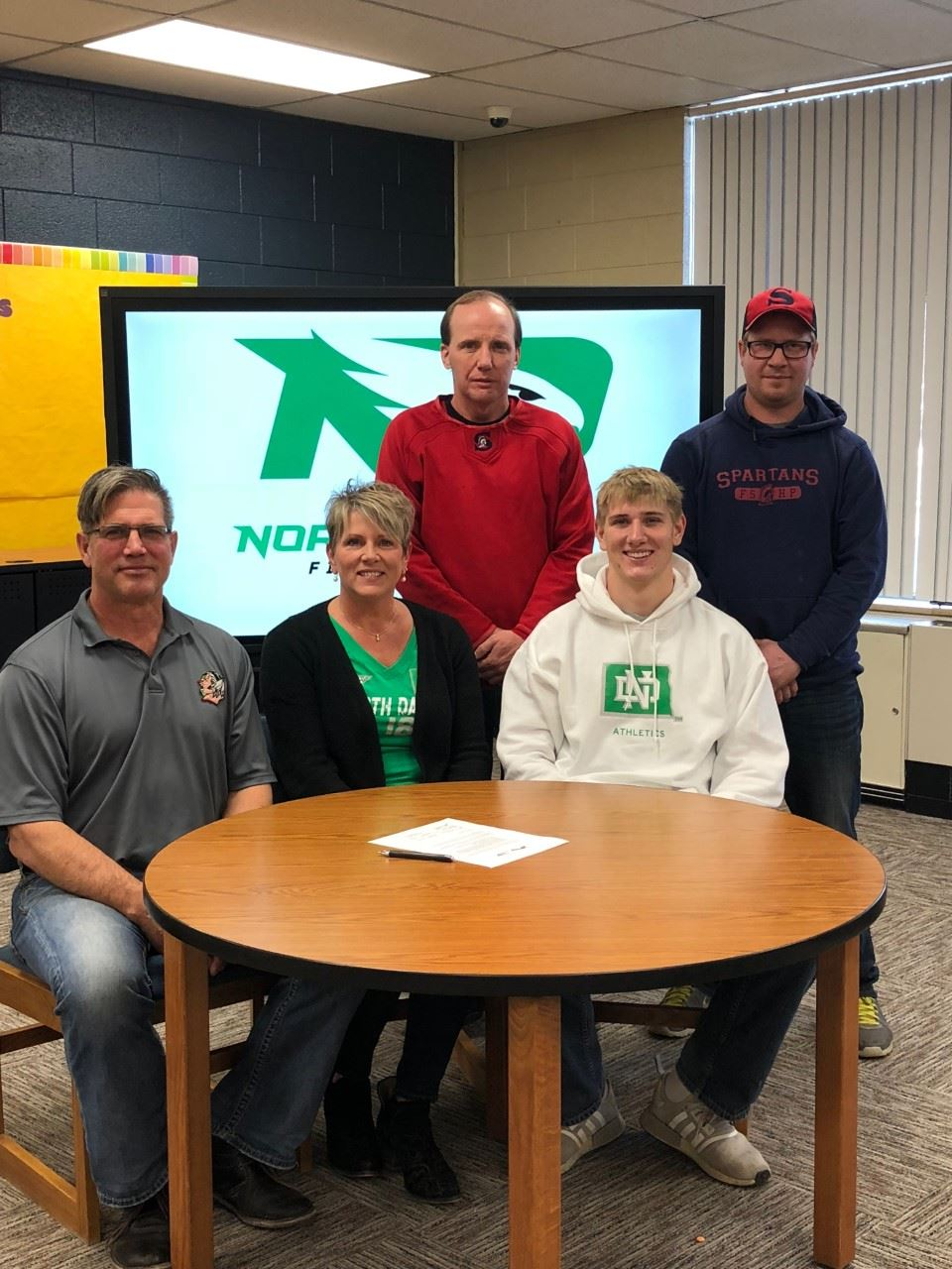 Congratulations to Jack Ihry on signing his letter of intent with UND! Congrats Jack from Spartan Nation!!!