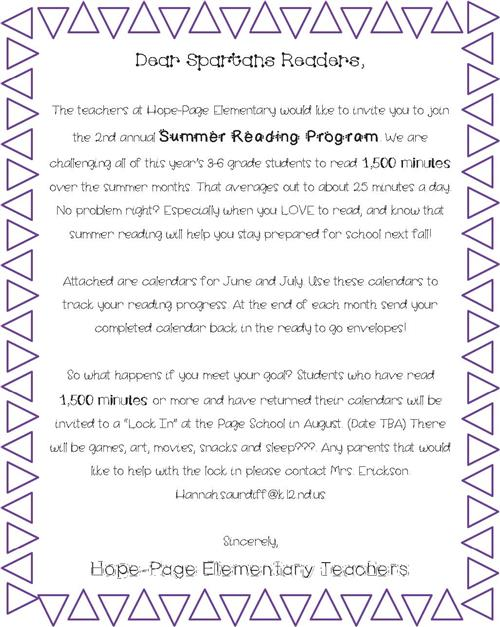 Spartan Summer Reading Program